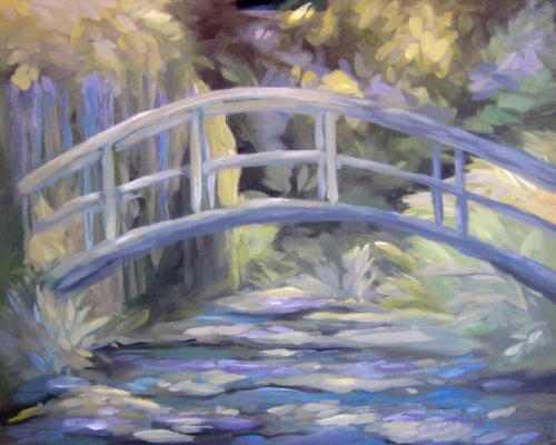 Inspired by Monet's Bridge at Giverny