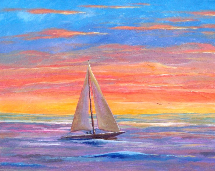 Sailboat Sunset by Brian Bullard